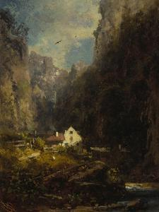 Gorge with Farmhouse at a Stream, about 1875/80 by Carl Spitzweg