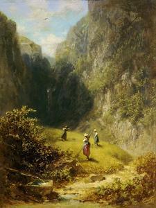 Heuernte im Hochgebirge by Carl Spitzweg