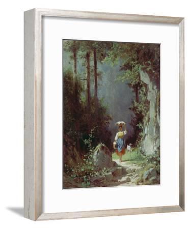 Maedchen Mit Ziege (Heimkehr Von Der Alm) Um 1858/1860