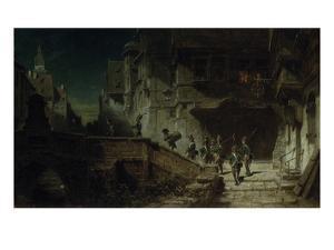Nocturnal Round. before 1879 by Carl Spitzweg