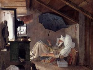 Spitzweg: Poor Poet, 1839 by Carl Spitzweg
