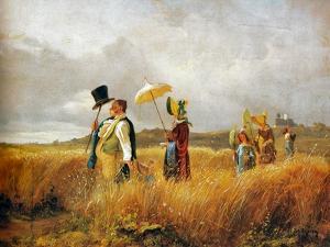 Sunday Stroll by Carl Spitzweg