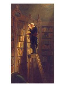 The Book Worm, about 1850 by Carl Spitzweg