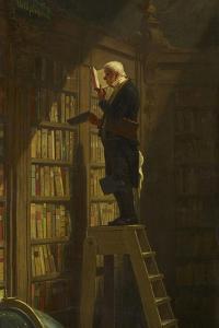 The Bookworm, C. 1850 by Carl Spitzweg