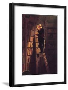 The Bookworm by Carl Spitzweg