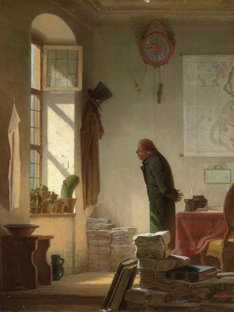 The Cactus Lover; Der Kaktusliebhaber, C.1860