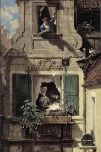 The Intercepted Love Letter, C.1855-60 by Carl Spitzweg