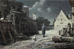 The Night Watchman by Carl Spitzweg