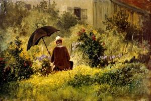 The Painter in the Garden by Carl Spitzweg