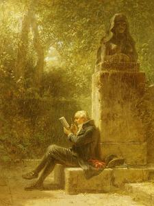 The Philosopher (The Reader in the Park) by Carl Spitzweg