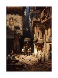 The Post; Die Post, C.1875-1880 by Carl Spitzweg