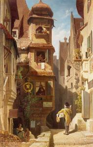 The Postman, about 1852-59 by Carl Spitzweg