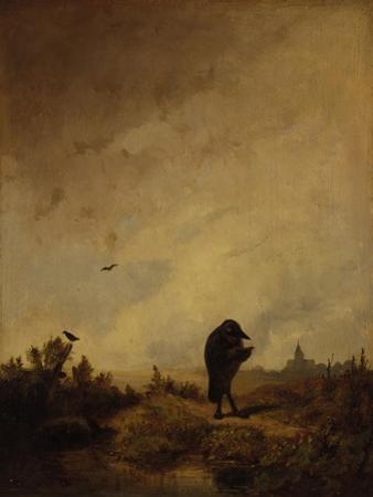 The Raven, 1840/45 by Carl Spitzweg