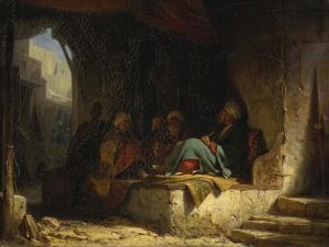 Turks in a Coffee House, 1855-60 by Carl Spitzweg