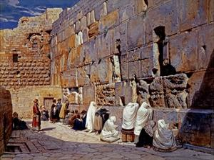 The Wailing Wall, Jerusalem, Israel by Carl Werner