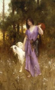 The Shepherdess by Carl Wunnenberg