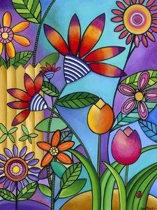 Fence with Flowers by Carla Bank