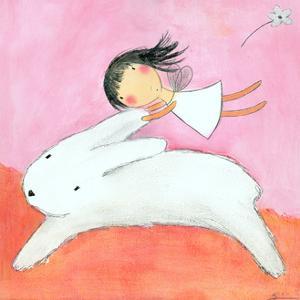 Fairy on Hare by Carla Sonheim