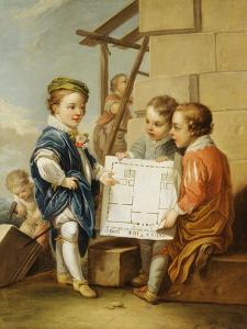 The Four Arts - Architecture by Carle van Loo
