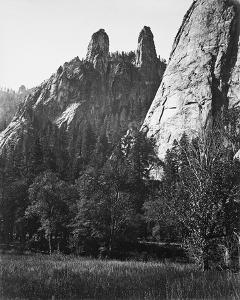 Cathedral Spires, Yosemite by Carleton E Watkins