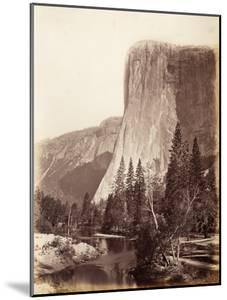 El Capitan, Yosemite National Park, Usa, 1861-75 by Carleton Emmons Watkins