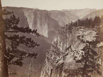 First View of the Yosemite Valley from the Mariposa Trail, 1865-66