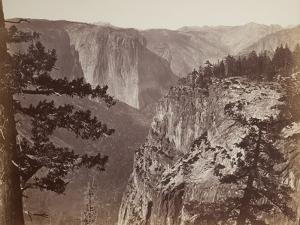 First View of the Yosemite Valley from the Mariposa Trail, 1865-66 by Carleton Emmons Watkins