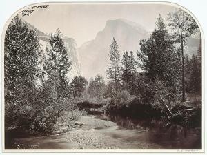 Taysayac, Half Dome, 4967 Ft, Yosemite, 1861 (Mammoth Plate Albumen Print) by Carleton Emmons Watkins
