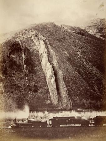 The Devil's Slide, Union Pacific Railroad, Utah, 1880