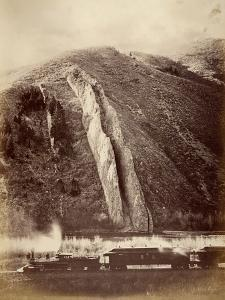 The Devil's Slide, Union Pacific Railroad, Utah, 1880 by Carleton Emmons Watkins