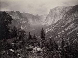 Vue générale de la vallée de Yosémite prise d'Artiste Point, Californie by Carleton Emmons Watkins