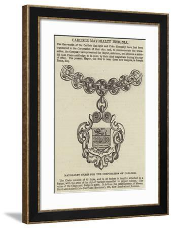 Carlisle Mayoralty Insignia--Framed Giclee Print