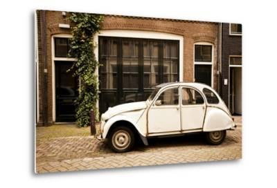 Vintage Citroen on a Street in Amsterdam, Netherlands