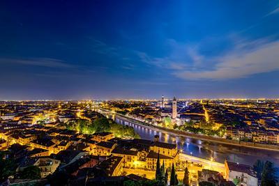 Verona Panoramic View at Dusk