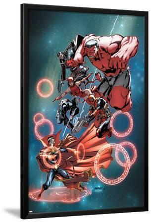 Thunderbolts Annual #1 Cover: Red Hulk, Elektra, Punisher, Leader, Deadpool, Venom, Dr. Strange