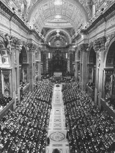 2,300 Prelates Filling the Nave of St. Peter's During the Final Session of the Vatican Council by Carlo Bavagnoli