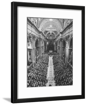 2,300 Prelates Filling the Nave of St. Peter's During the Final Session of the Vatican Council
