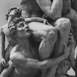 "Detail Sculpture ""Ugolino"" by Jean Baptiste Carpeaux at Music Des Beaux Arts by Carlo Bavagnoli"