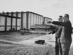 Director and Producer Dino De Laurentis with Jack Valenti by Carlo Bavagnoli
