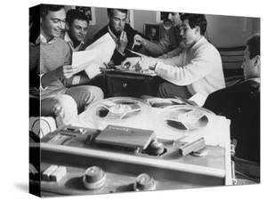 Editors of Le Rosey School Newspaper Listening to Music as They Work by Carlo Bavagnoli