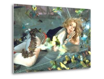 "Jane Fonda is Preyed Upon by Parakeets and Finches in Scene from Roger Vadim's ""Barbarella"""
