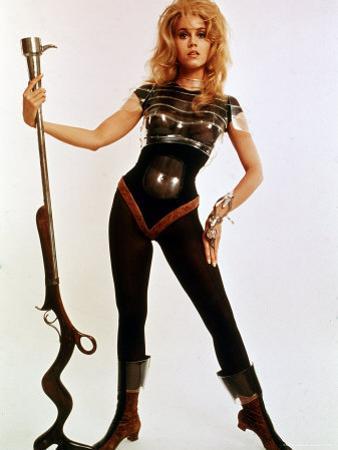 "Jane Fonda, Wearing Space Age Costume in Publicity Still from Roger Vadim's Film ""Barbarella"""