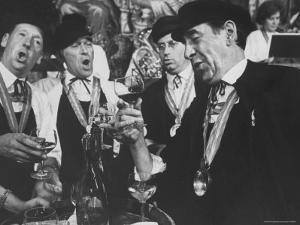 Men Wearing Special Tasters at Chevalier du Taste Vin Harvest Banquet by Carlo Bavagnoli