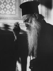 Patriarch Athenagoras at Daily Early Morning Prayer in His Private Chapel by Carlo Bavagnoli