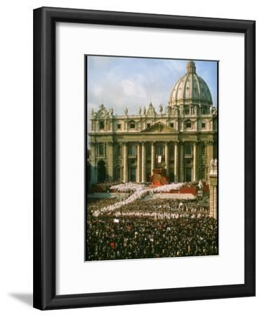 Pope Paul VI in Front of St. Peter's During 2nd Vatican Council