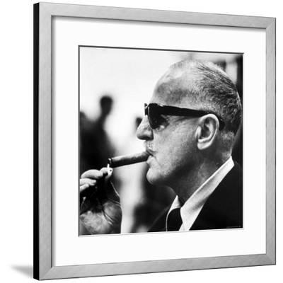 "Producer Darryl F. Zanuck Lighting Cigar on the Set of Film ""Rapture"""