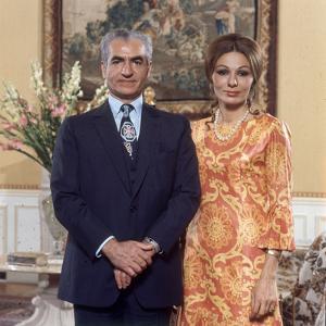 Shah of Iran Mohammad Reza Pahlavi and Wife Farah, 2500th Anniversary of Persia, Persepolis by Carlo Bavagnoli
