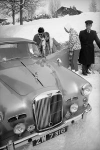 Students Getting in Car at Le Rosey School, Gstaad, Switzwerland, 1965 by Carlo Bavagnoli