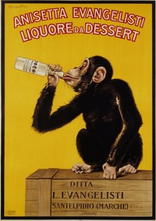 Anisetta Evangelisti Liquore Da Dessert Poster by Carlo Biscaretti Di Ruffia
