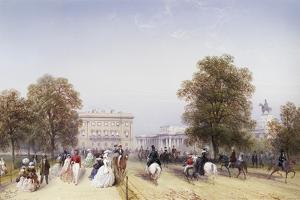 High Society, Rotten Row, Hyde Park by Carlo Bossoli